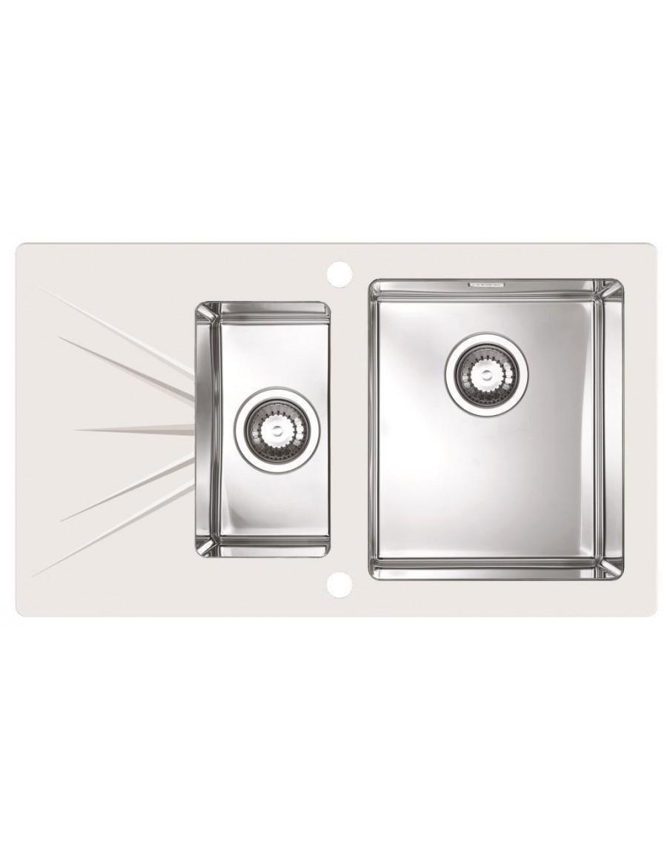 alveus karat 20 inset sink glass  stainless steel     monarch karat 20 kitchen sink   alveus   senk in   enk interior      rh   senkinterior com