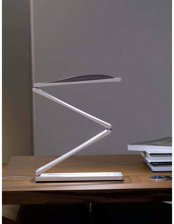 Task LED light by Nemo Pearl White/Dark brown