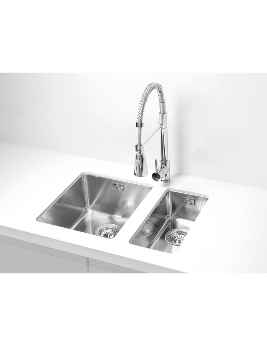 Alveus Kombino 120 under-mount sink, stainless steel