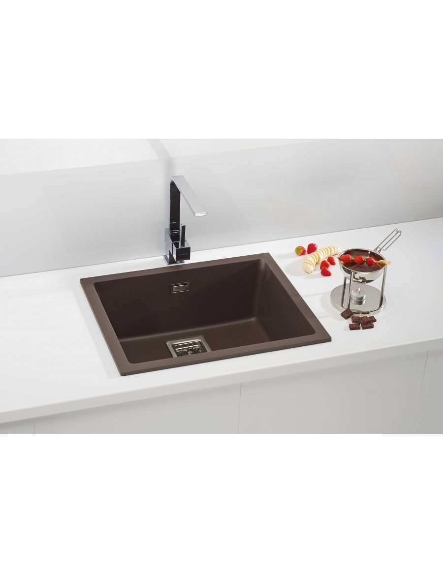 Alveus Quadrix 50 Granital Plus, inset/undermount sink, Chocolate