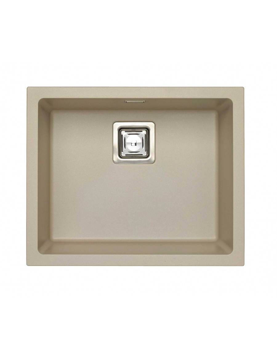 Alveus Quadrix 50 Granital Plus, inset/undermount sink, Pebble