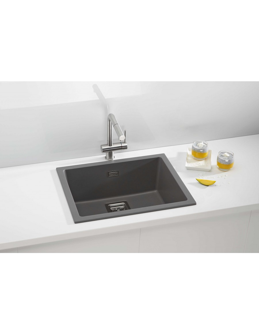Alveus Quadrix 50 Granital Plus, inset/undermount sink, Steel