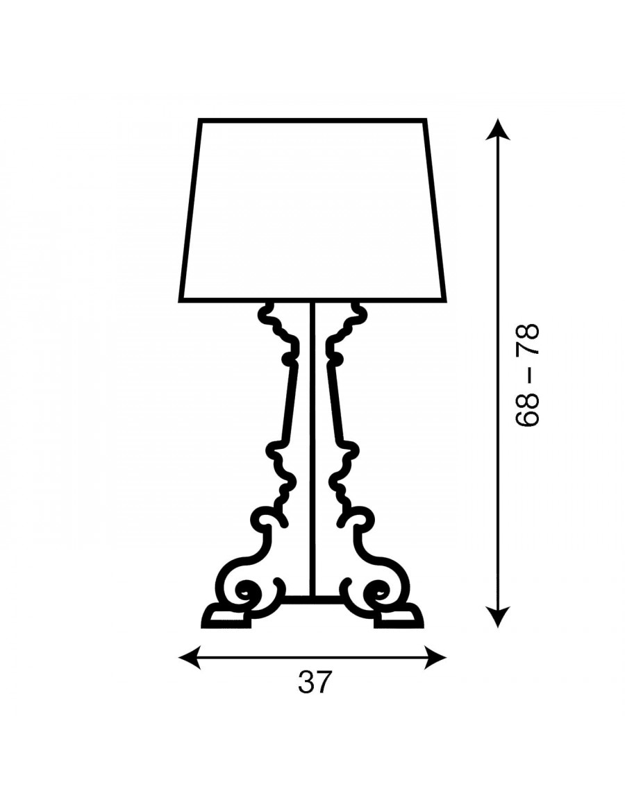 Table lamp Bourgie by Kartell