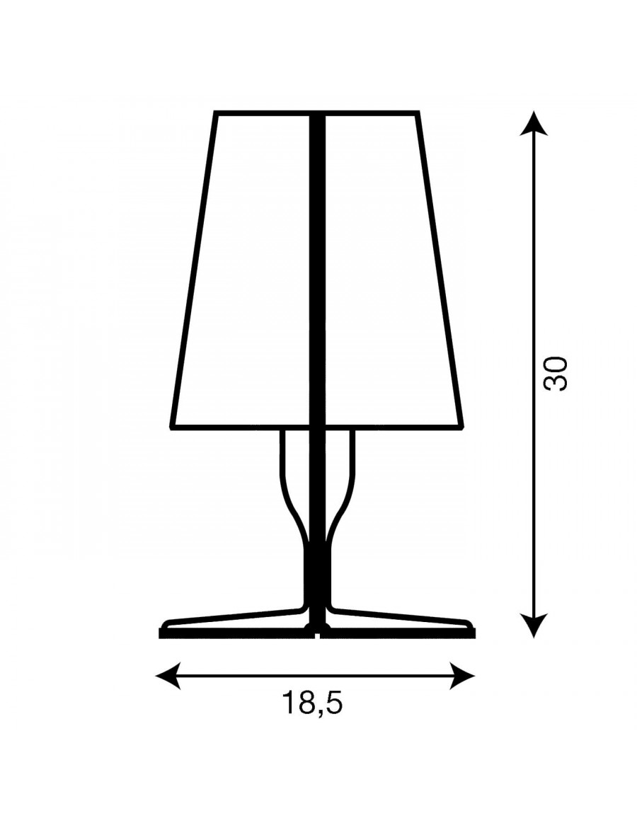 Table lamp Take by Kartell