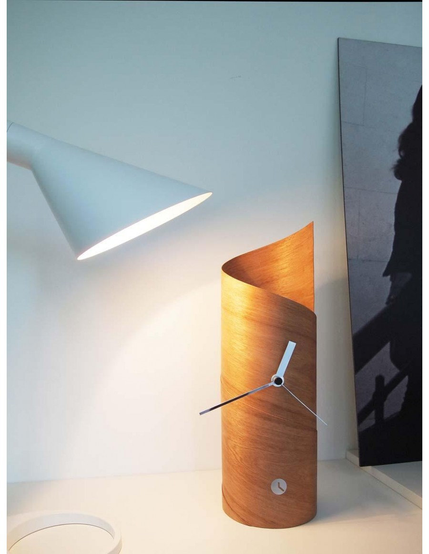 Surf table clock, cedar