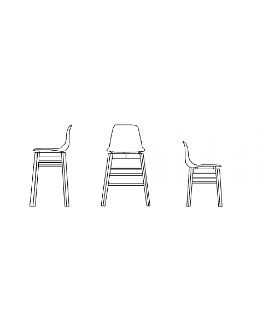Petite chair and stool