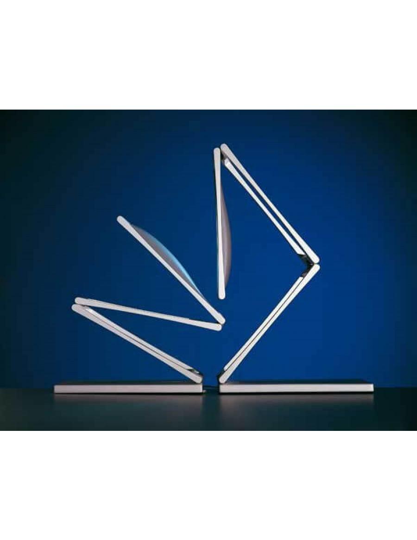 Task LED light by Nemo Polished aluminium/Dark brown