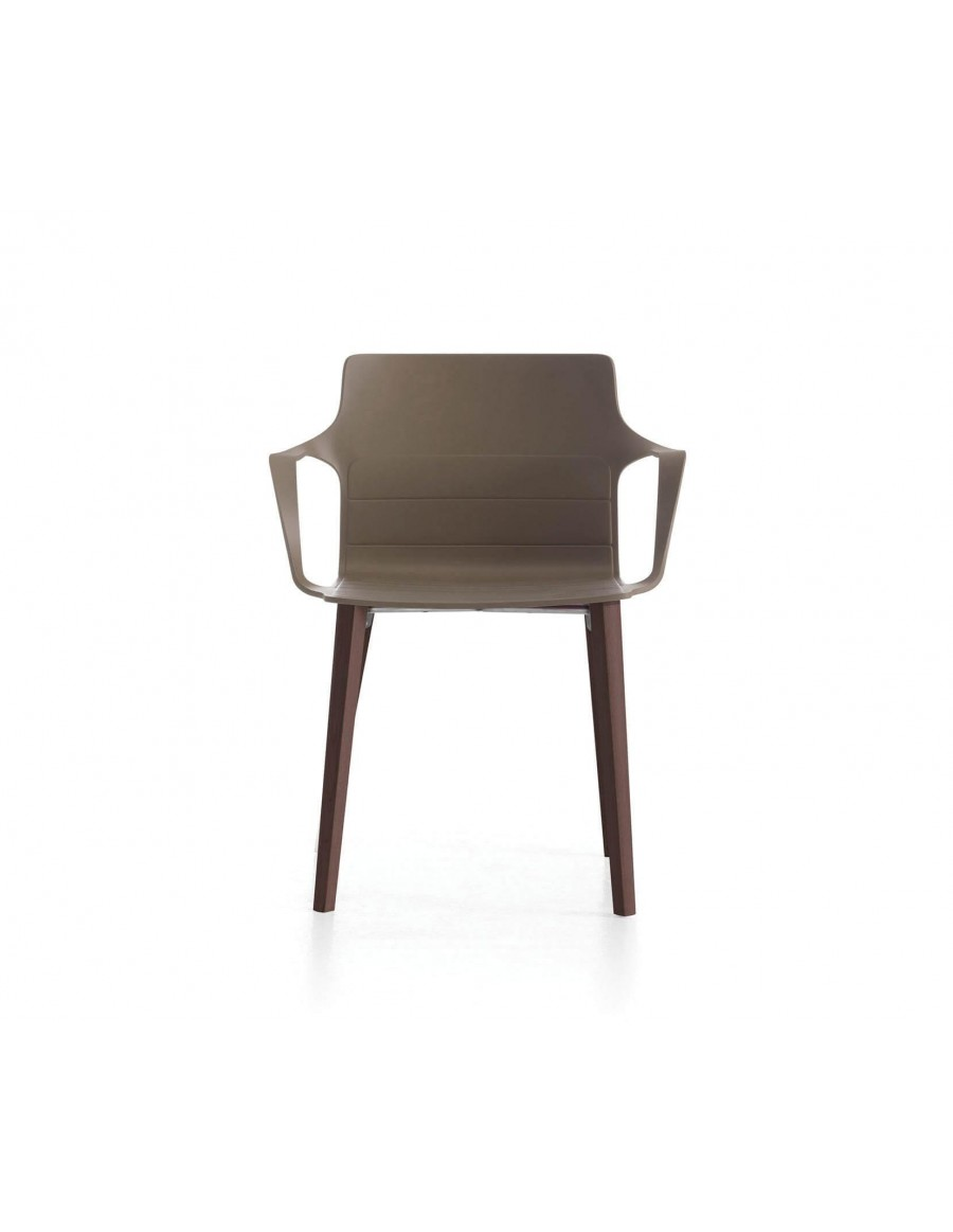 Kelly chair | Tortora shell, tinted oak base