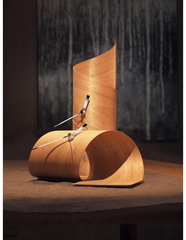 Surf and Loop table clock, cedar