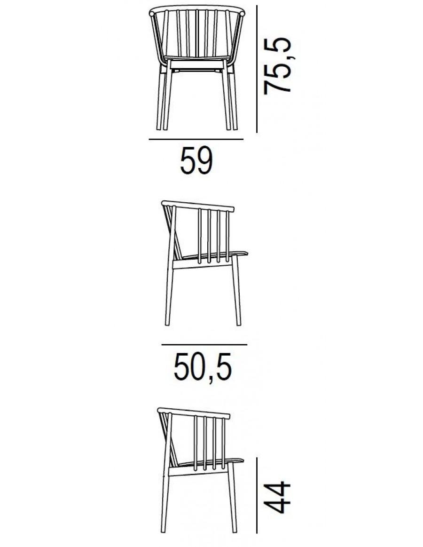 Tivoli armchair by L'Abbate dimensions