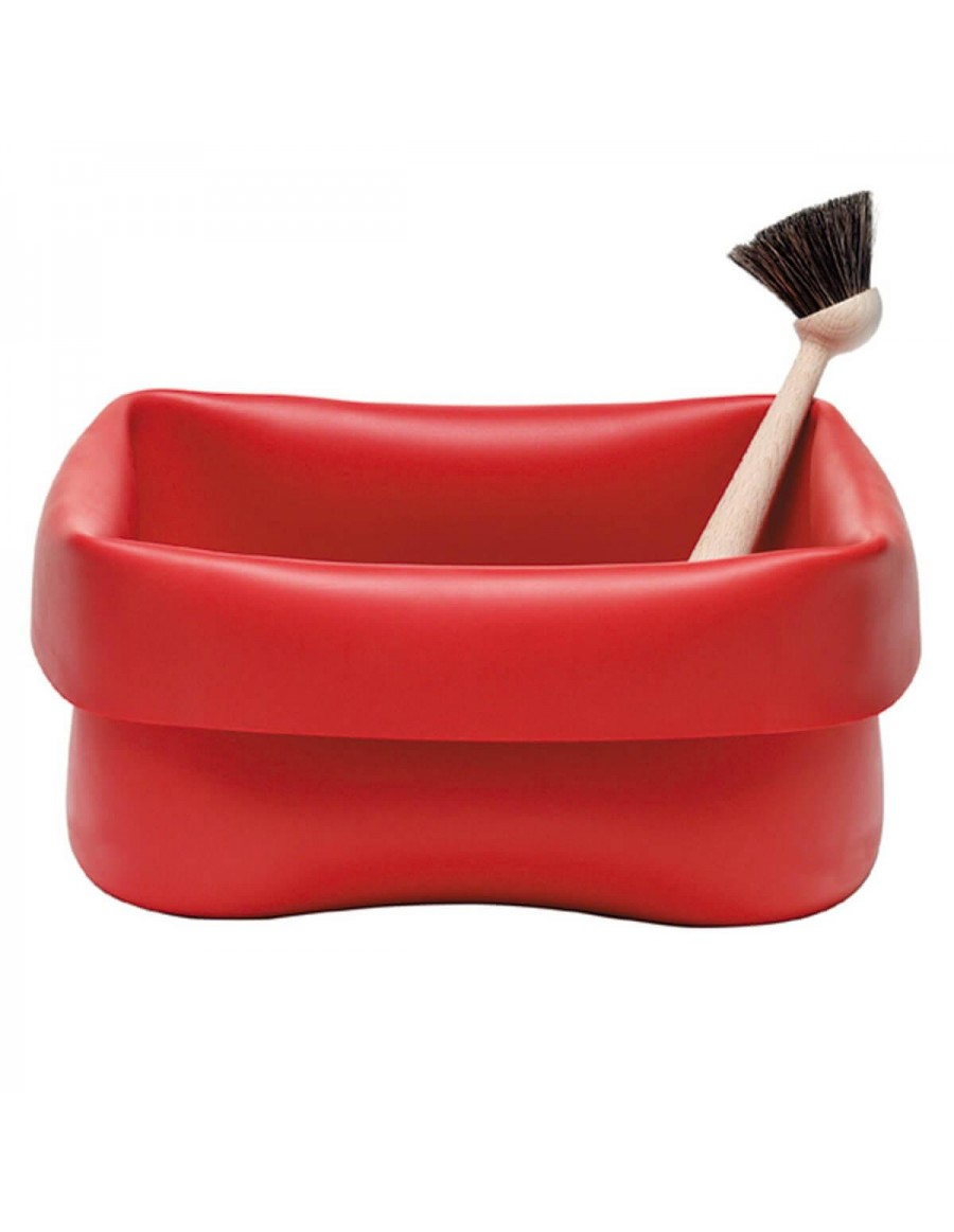Normann Copenhagen Washing-up bowl red rubber with