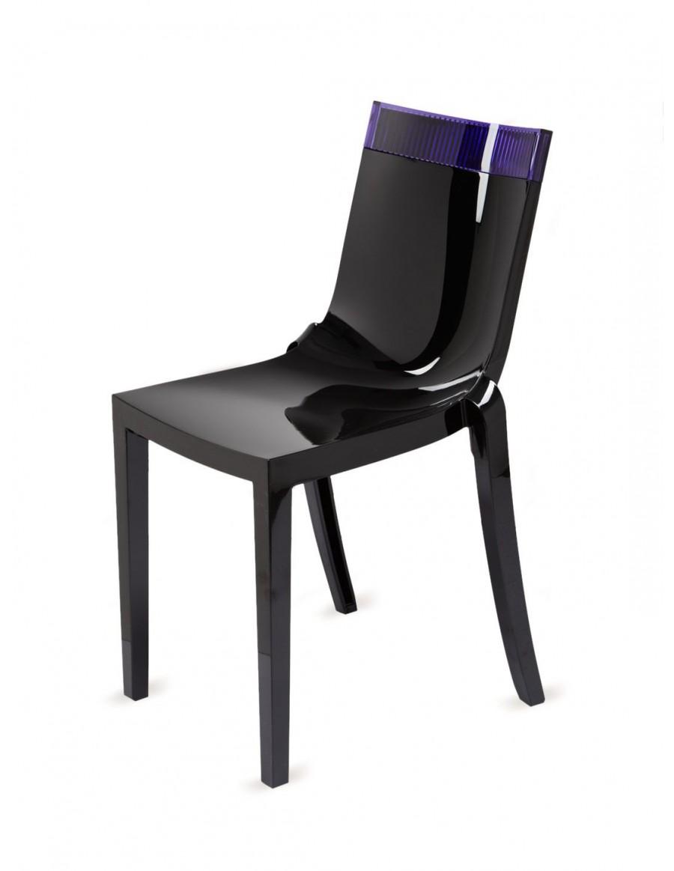 Stol HI-CUT črn/vijola | odprodaja zaloge -30%
