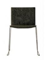 Metropolis stol - tapeciran, črn | ODPRODAJA EKSPONATA -60%