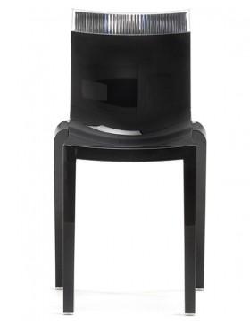 Stol HI-CUT črn/prosojen | odprodaja zaloge -30%