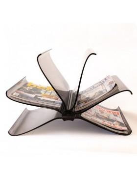 stojalo za časopise Front Page, črna | odprodaja zaloge -30%