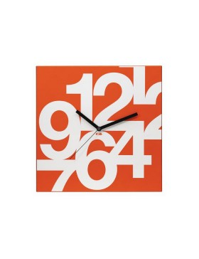 Nava wall clock Time Square Orange