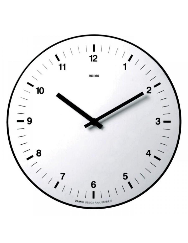 Stenska ura Orario, tehnični polimer bele barve, Rexite