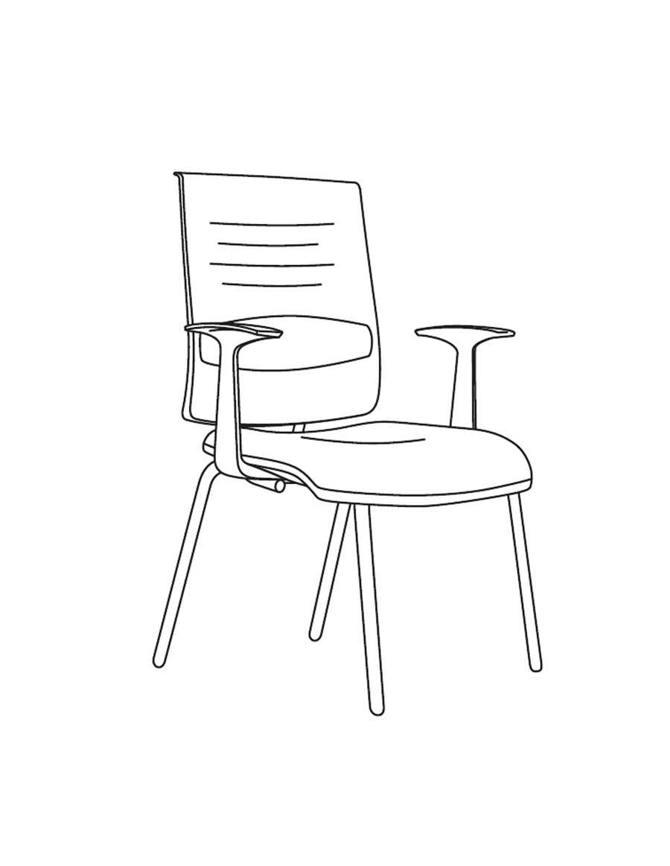 Zero 7 konferenčni stol, naslon iz polipropilena, AresLine