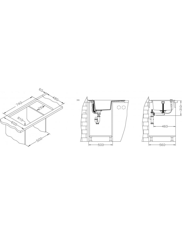 Alveus Formic 30 Granital Plus - vsadna vgradnja installation