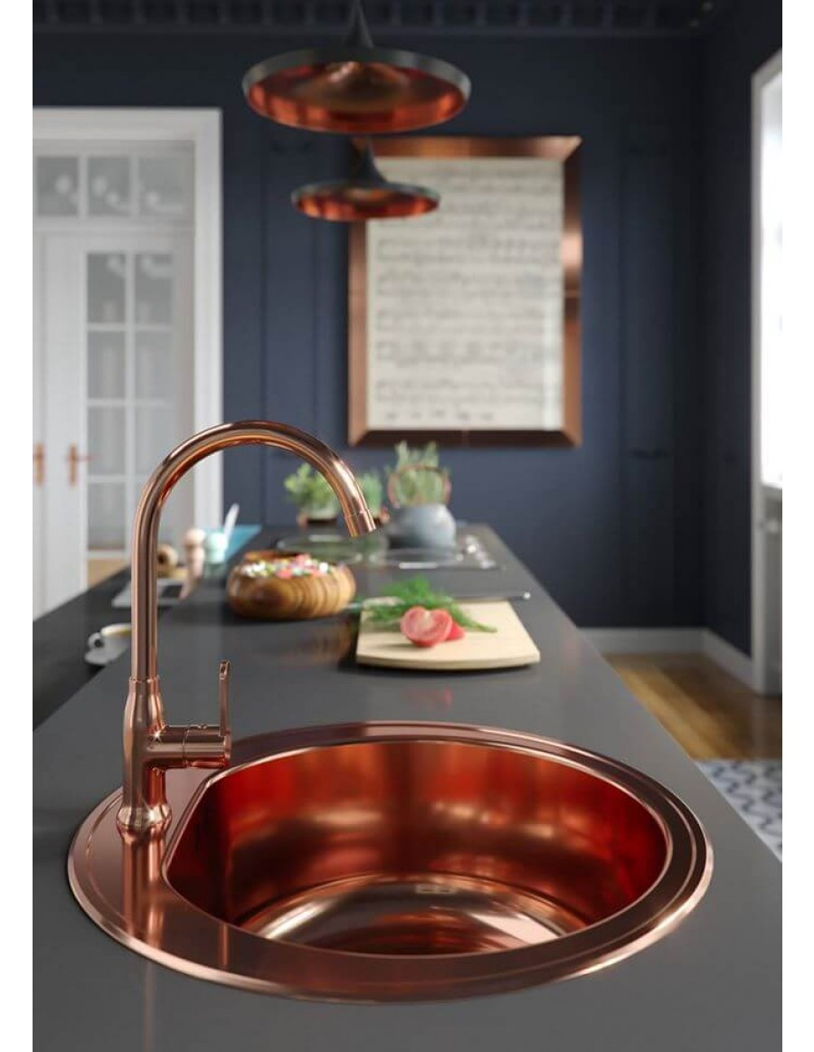 Alveus inset kuhinjsko korito Form 30 copper finish