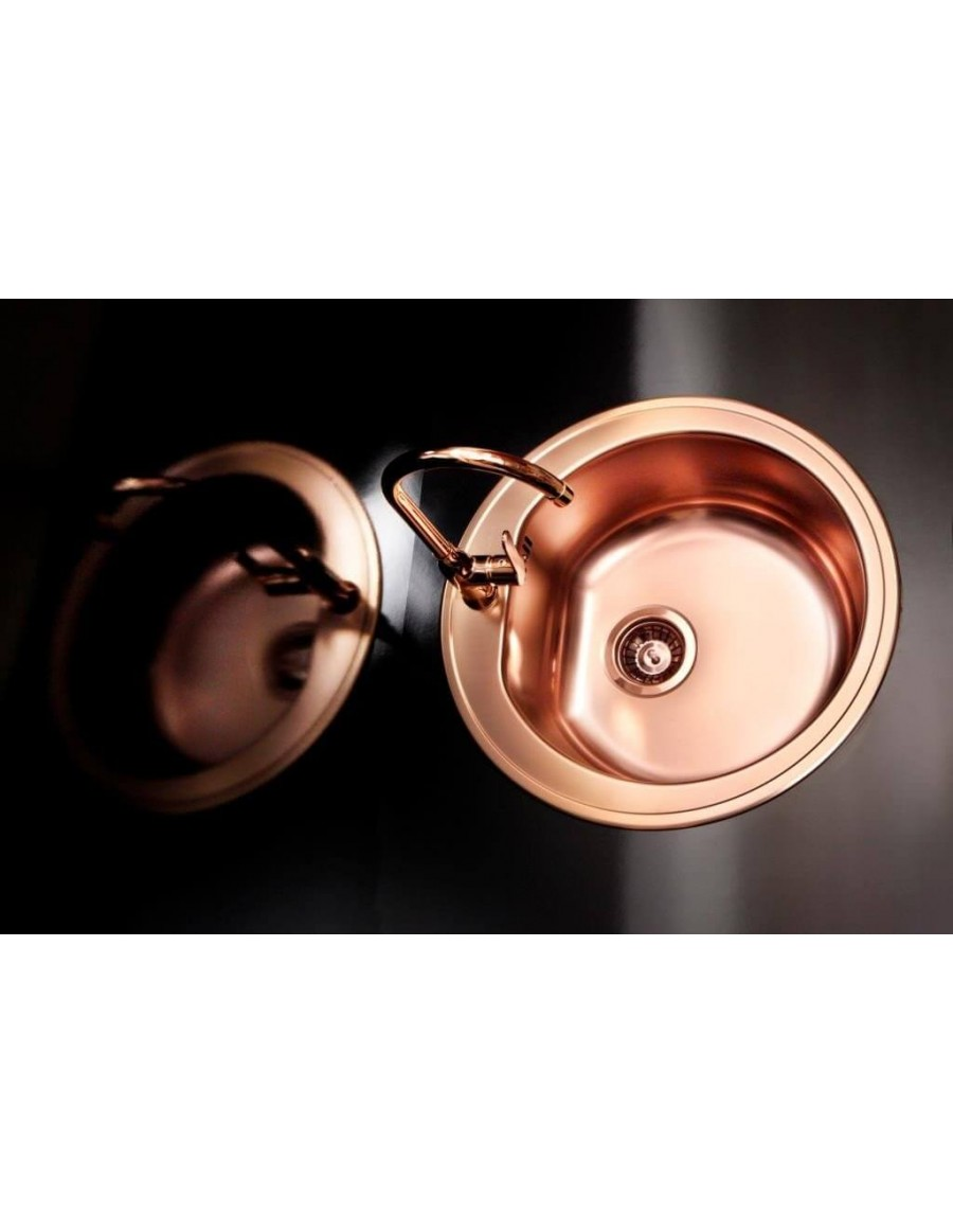 Alveus inset kitchen sink Form 30 copper finish