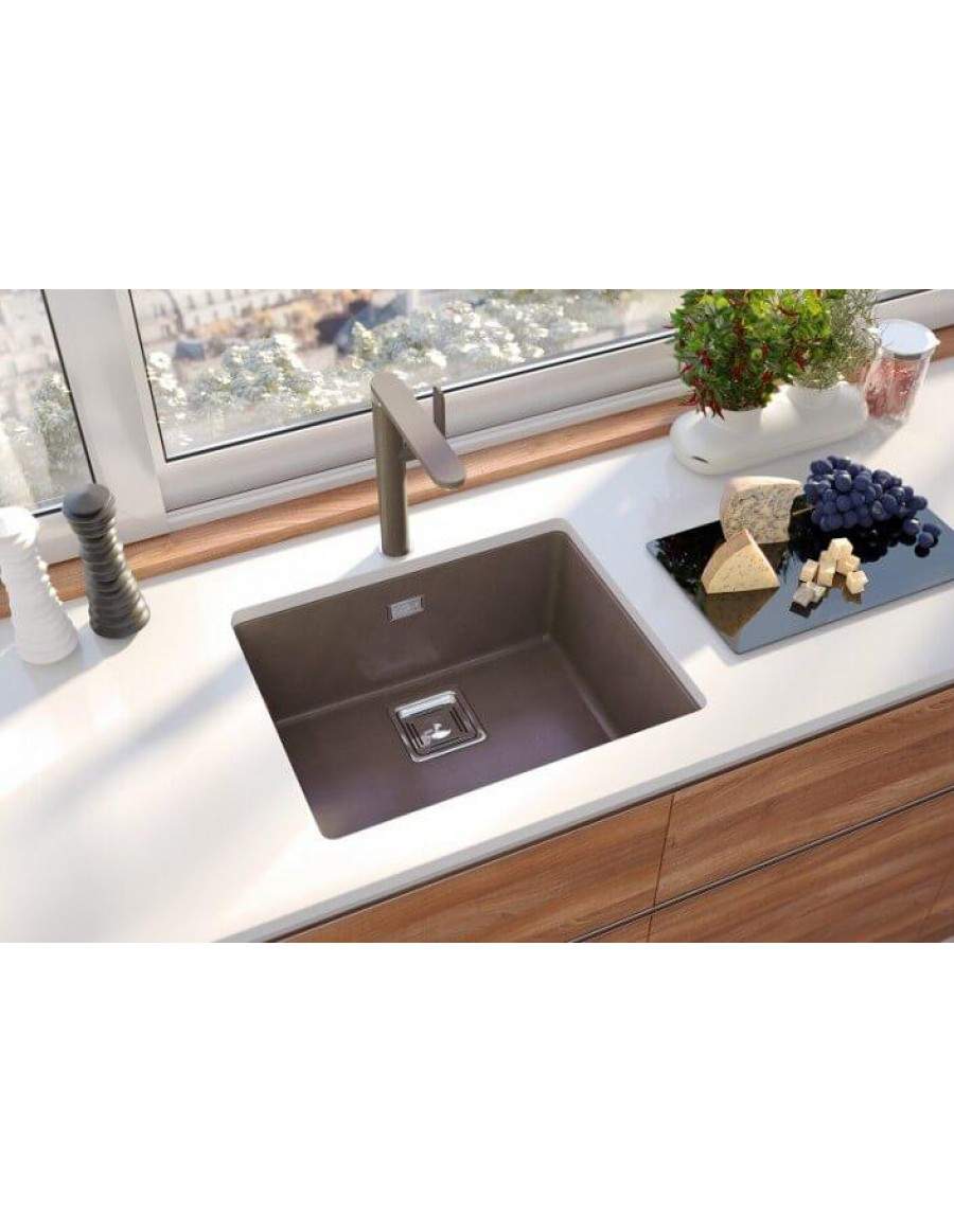 Alveus Quadrix 50 Granital Plus, undermounted sink, Chocolate