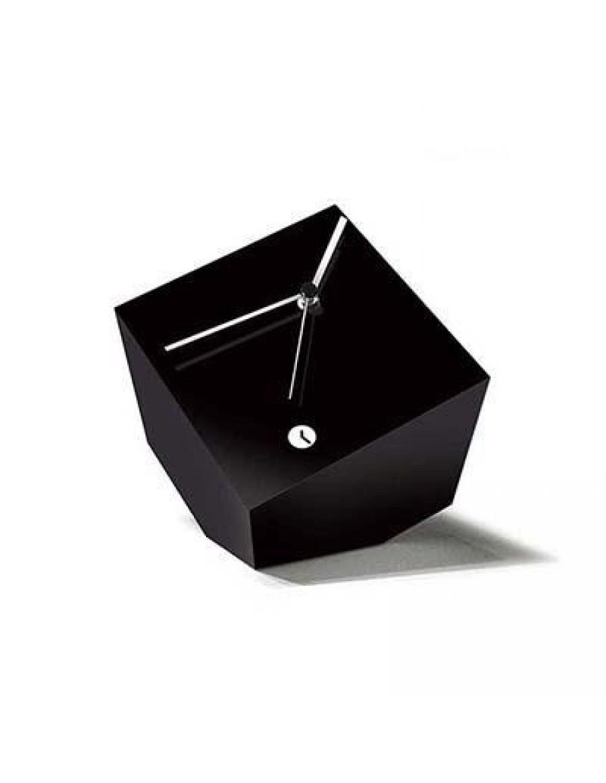 namizna ura Box, lakirana črno