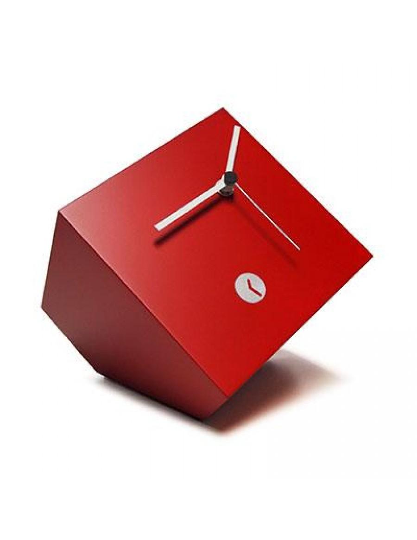 namizna ura Box, lakirana rdeče