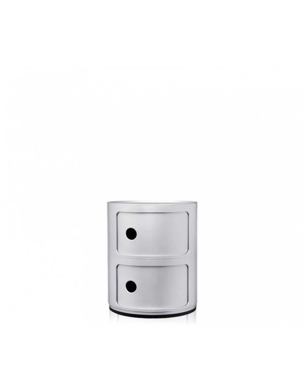 Componibili predalnik Kartell - SI/silver - srebrno sive barve