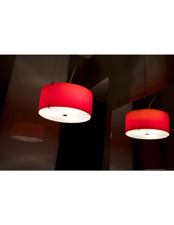 CPL S7  stropna svetilka Opal Red / opalno rdeča