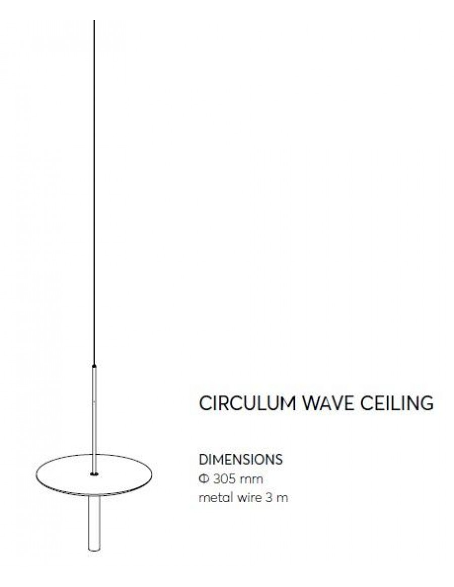 Circulum wave - ceiling application dimensions