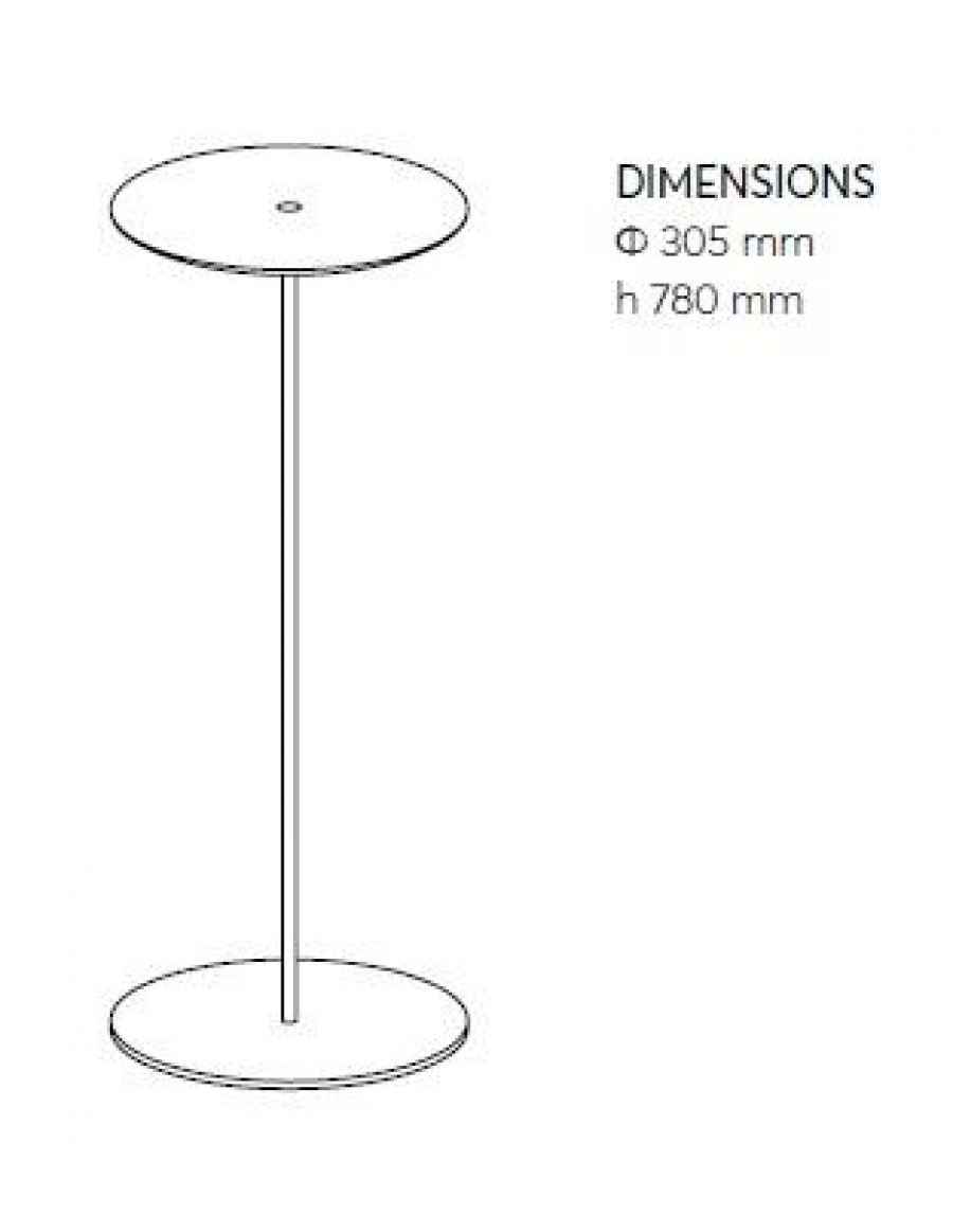 Circulum wave - free standing application dimensions