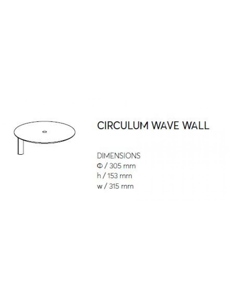 Circulum wave - wall application dimensions