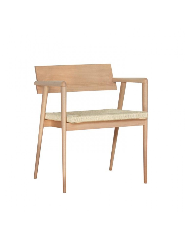 Dormitio stol z rokonaslonom, pleteno sedišče