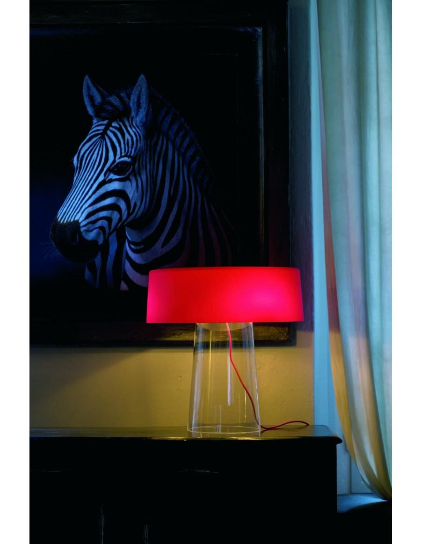 Glam T3 namizna svetilka Opal Red / opalno rdeča