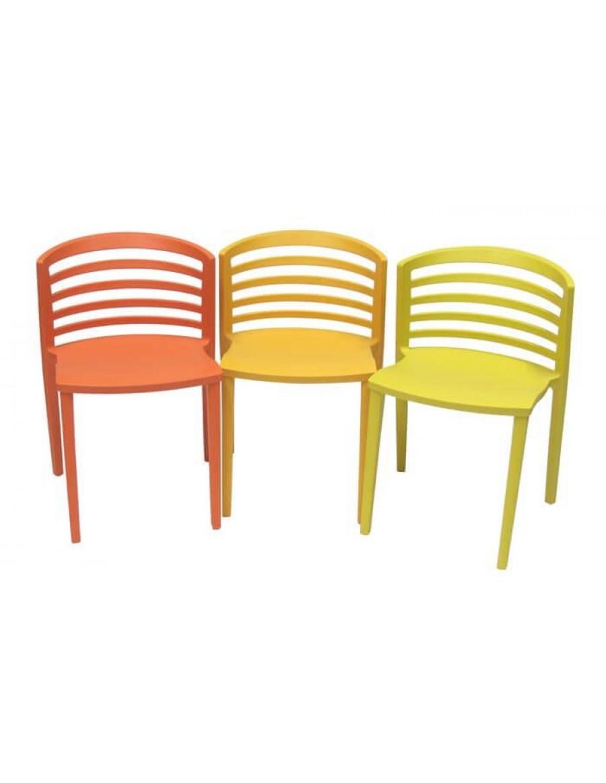 Venezia stol, Gruppo Sintesi, rdeč, oranžen in rumen