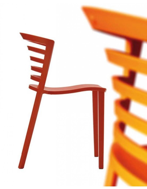 Venezia stol, Gruppo Sintesi, rdeč, oranžen
