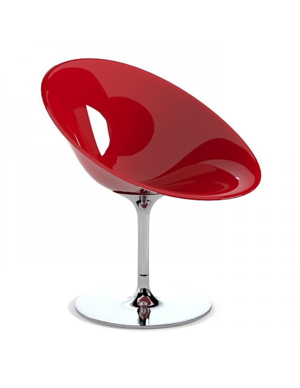Kartell Ero vrtljiv stol, rdeč
