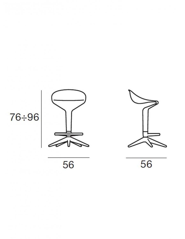 Spoon barski stol - Kartell