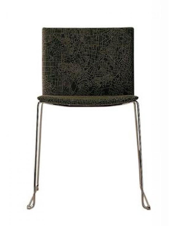 stol tapeciran črn
