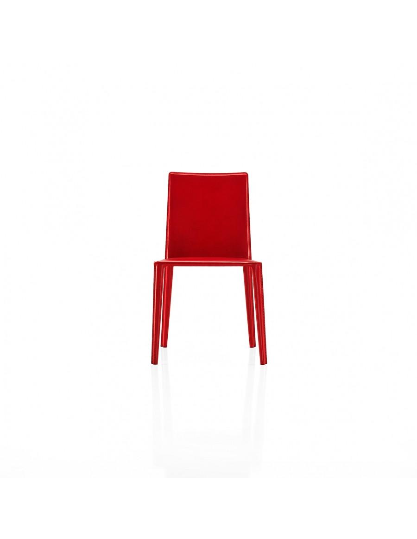 Norma stol | Arper, usnje - semiš v rdeči barvi