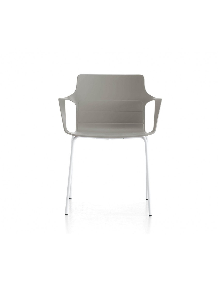 Kelly chair | Grey cement shell, white base