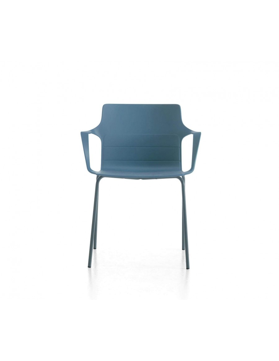 Kelly chair | Light blue shell, anthracite base