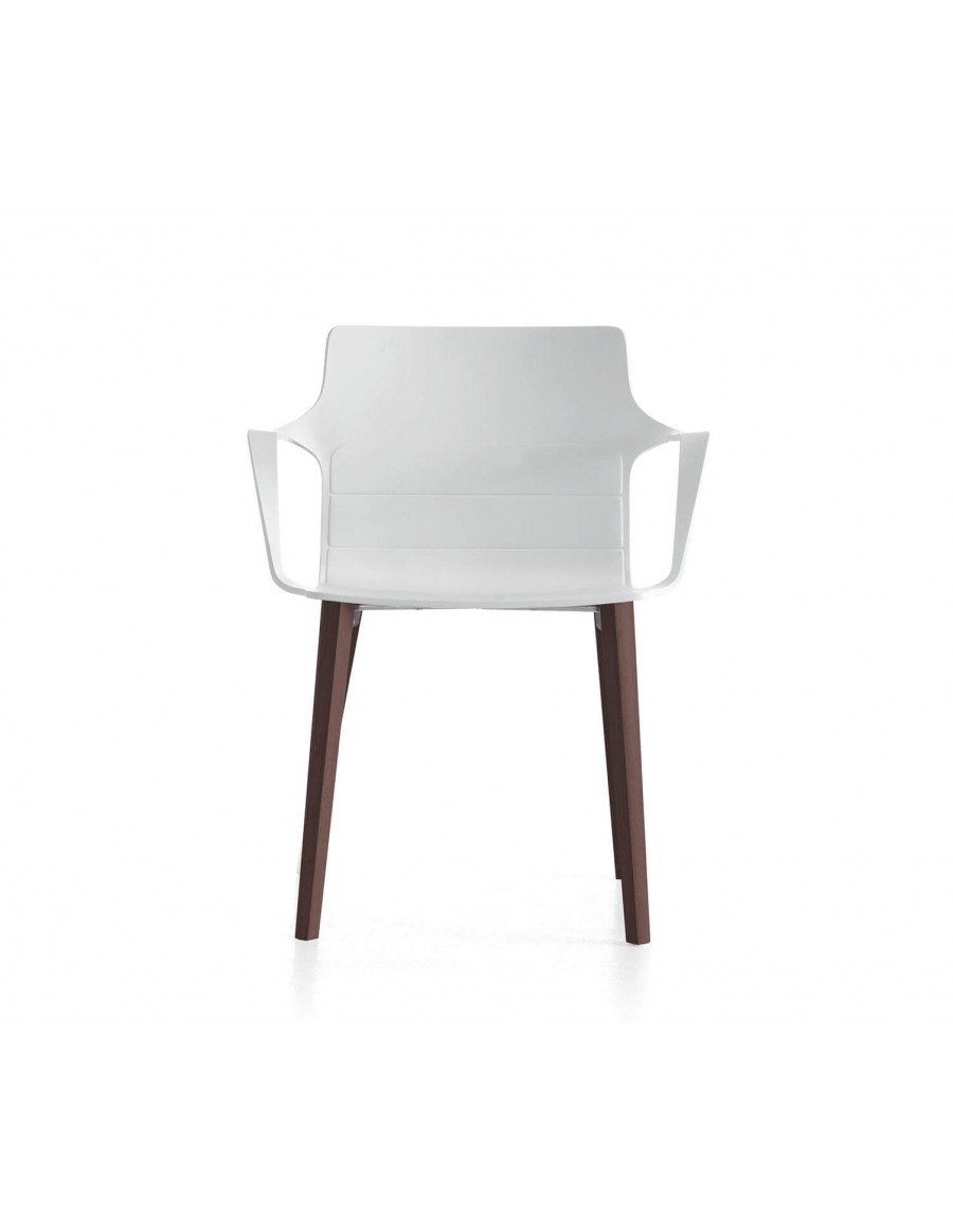 Kelly chair | White shell, tinted oak base