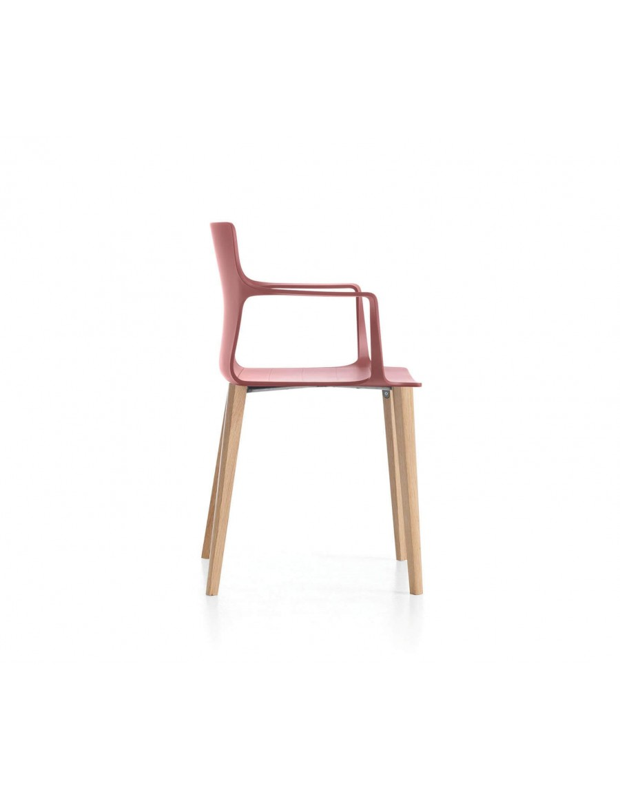 Kelly chair | Marsala shell, natural oak base
