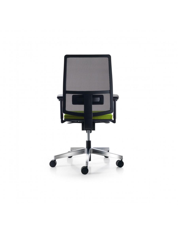 Sugar Net operativni pisarniški stol, Quinti Sedute | Črna mreža, tapecirano volneno sedišče