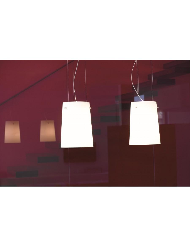Serra S5 stropna viseča svetilka Opal White
