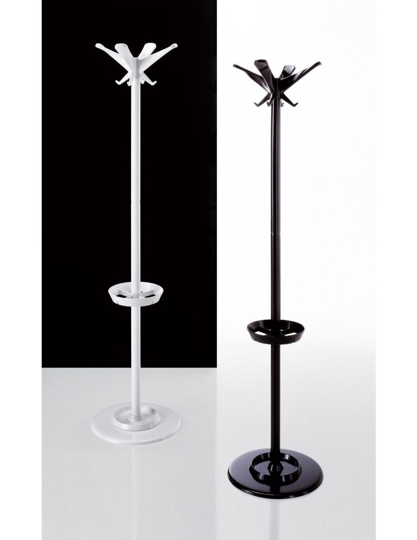 Swing prostostoječi obešalnik črne in bele barve
