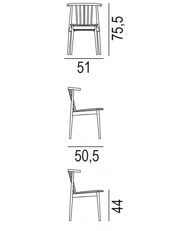 Tivoli chair by L'Abbate dimensions