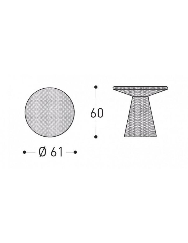 Tulip vrtna miza, Varaschin, dimenzije